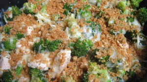Butter Crumbed Chicken With Broccoli